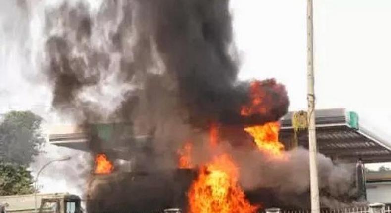 Residents scamper for safety as fire guts filling station in Enugu/Illustration.