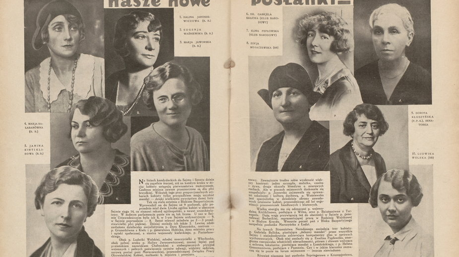 Trzy posłanki wybrane do ław sejmowych w 1930 roku