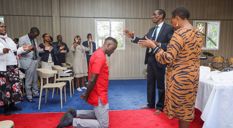 Rachel Ruto holds special prayer for Mariga in new church inside DP's residence