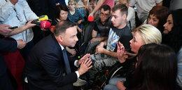 Andrzej Duda spotkał się z protestującymi w Sejmie