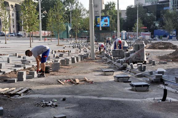 Finiš radova na Trgu republike