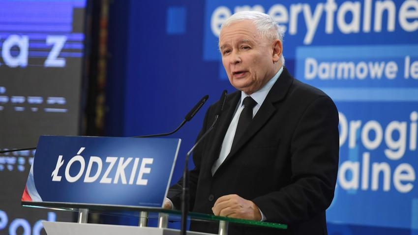 Znalezione obrazy dla zapytania kaczyński łódź