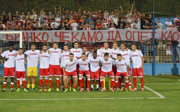 Poruka fudbalera i navijača Zvezde za povređenog Branka Jovičića