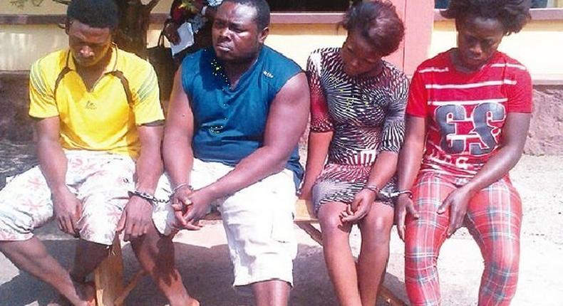 From left: Kenechukwu Amoke, Anayo Amoke, Oluchi Asadu and Maureen Uchenna