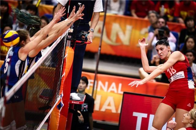 Tijana Bošković u finalu protiv Italije