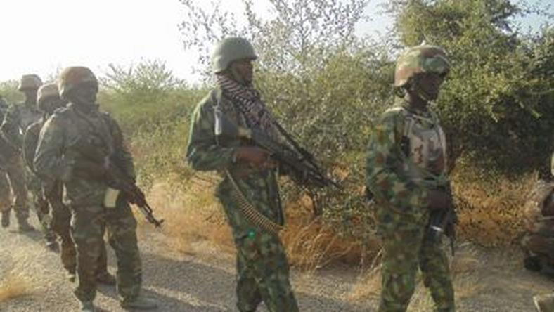 Nigerian soldiers on anti-Boko Haram operation in Borno State