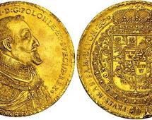 100 dukatów Zygmunta III Wazy - wybito zaledwie kilka egzemplarzy monety.