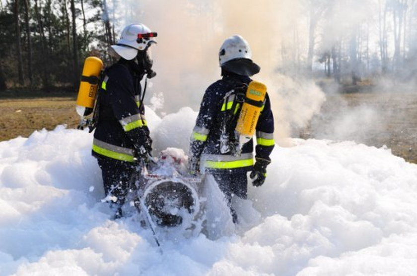 Akcja kępińskich strażaków