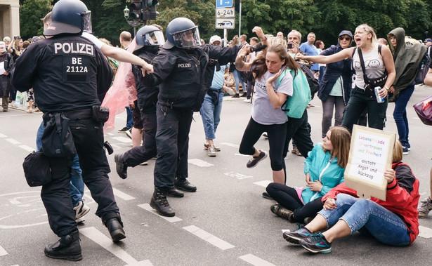 Protest koronasceptyków w Berlinie.