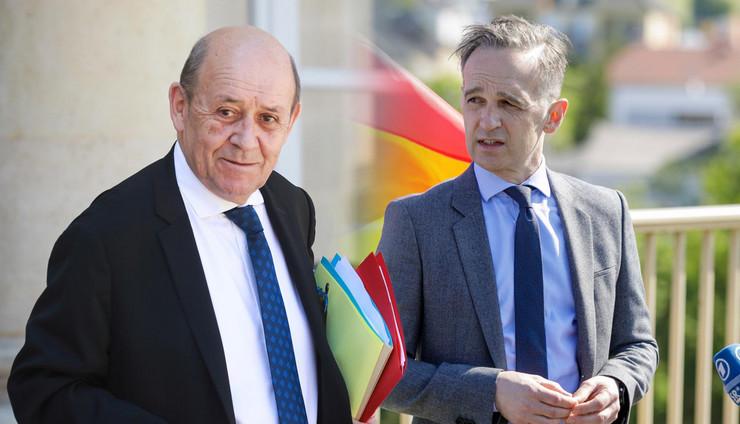 Žan-Iv Le Drijan, Hajko Mas ministri nemačka francuska