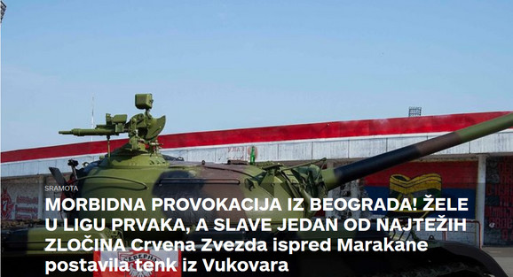Tenk ispred Marakane, Sportske novosti