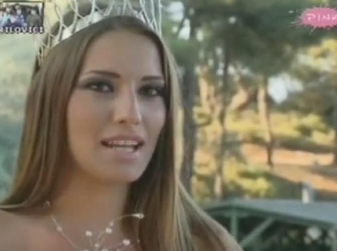 Milica Jelić - 2009. kada je pobedila na izboru lepote