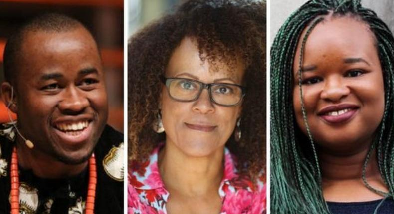 L-R: Chigozie Obioma, Bernardine Evaristo, & Oyinkan Braithwaite make the longlist for the 2019 Booker Prize (brittlepaper)