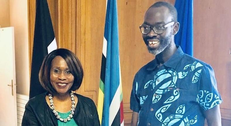 Kenyans pour in well wishes after seeing Kibra MP Ken Okoth's latest photos while on a visit to Kenyan Ambassador to France Prof. Judy Wakhungu