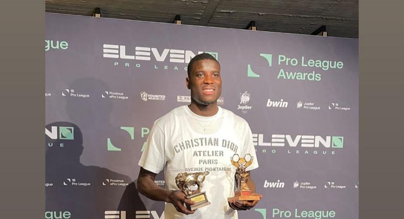 Paul Onuachu has been named Belgian Pro League's Best Player and top scorer of the season (Instgram/Paul Onuachu)