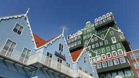 Niezwykły hotel wyglądający jak trójwymiarowe puzzle lub budowla z klocków Lego