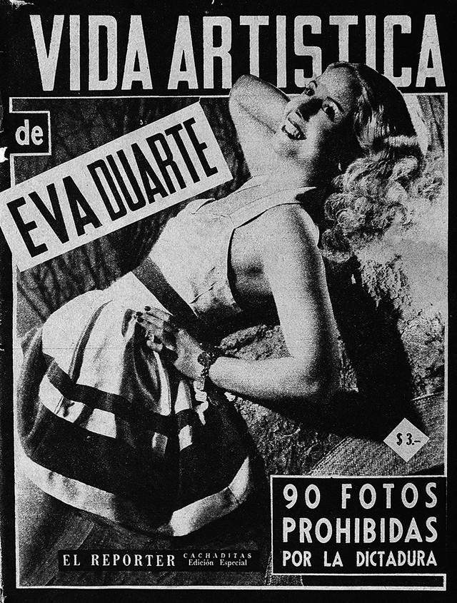 Kao mlada devojka, Eva je glumila u radio-sapunicama koje su u to vreme bile vrlo popularne u Argentini. Jedno vreme je bila i manekenka, a pozirala je i oskudno odevena za razne magazine