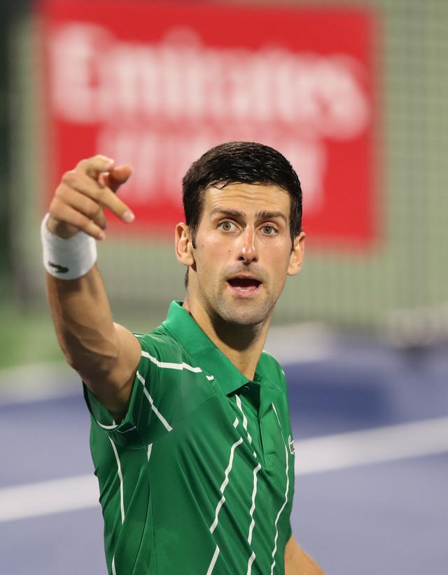 Novak Đoković na turniru u Dubaiju