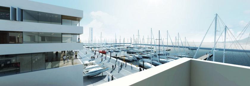 nowa marina jachtowa w Gdyni