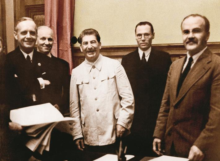 """ From left: Joachim Ribbentrop, German Foreign Minister, Andor Hencke, Counselor of Legation, Josep"