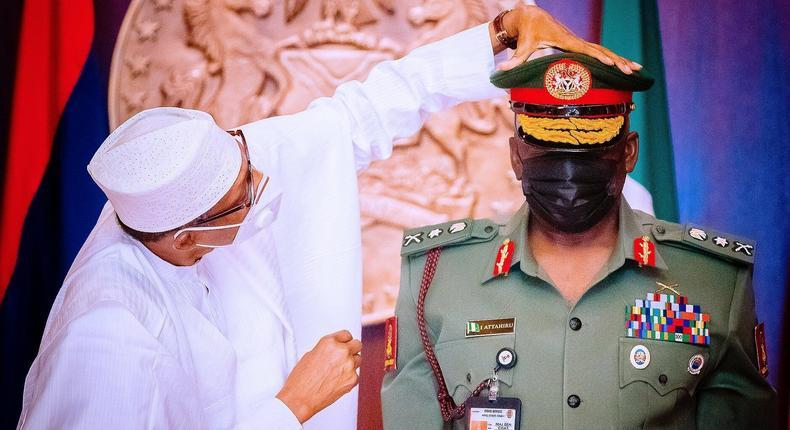 President Muhammadu Buhari appointed Lieutenant General Ibrahim Attahiru the Chief of Army Staff in January 2021 [Presidency]