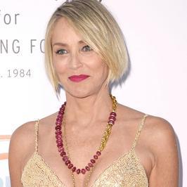 Sharon Stone cała na złoto. Postawiła na bardzo odważny krój