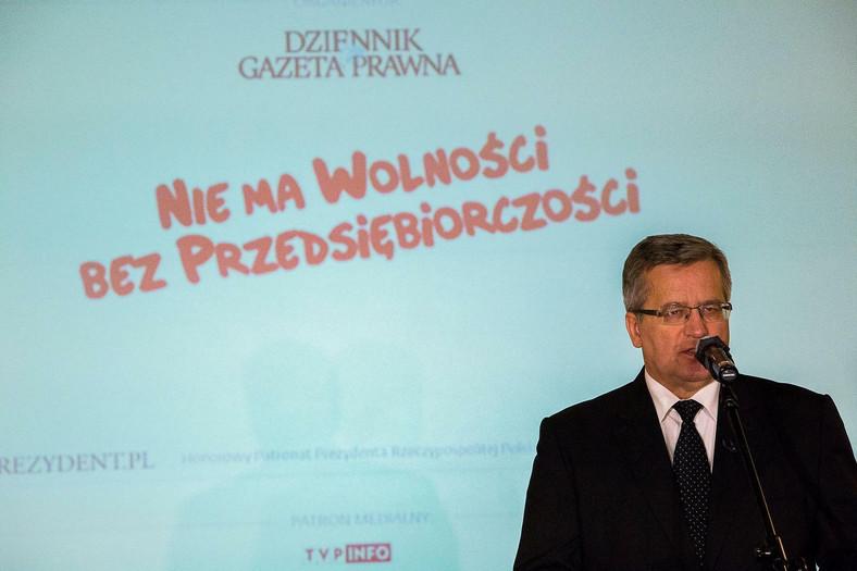 Prezydent Bronisław Komorowski podczas debaty eksperckiej