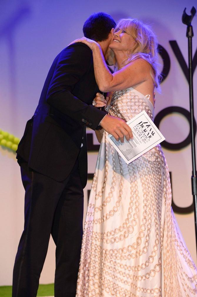 Novak Đoković i Goldi Hon na svečanosti Novak Đoković fondacije 2013. u Londonu