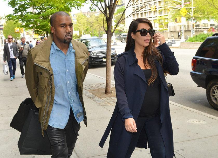 Kim Kardashian i Kanye West w Nowym Jorku