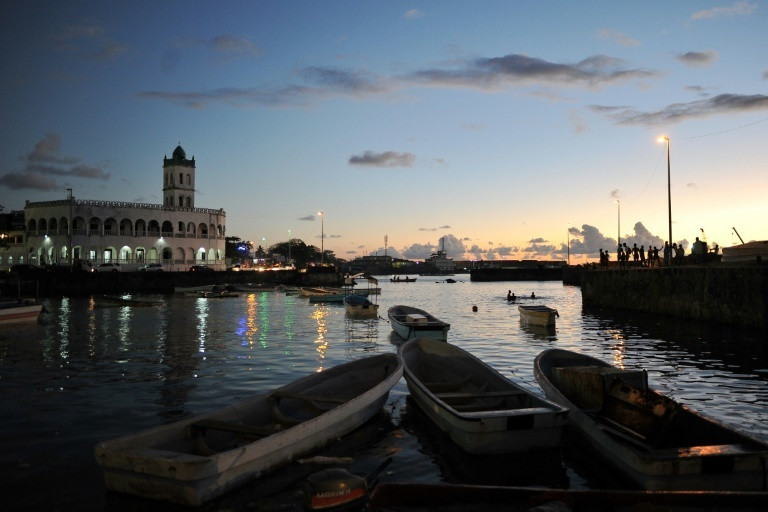 Sun sets in Moroni, the capital and largest city in Comoros