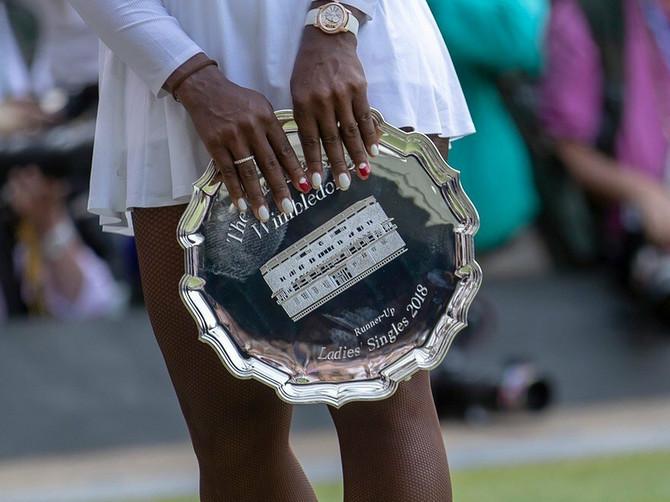 Posle nepunih godinu dana Serena je osvojila drugo mesto u finalu Vimbldona
