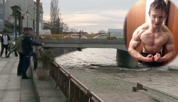 Mesto na nišavskom keju kod Betonskog mosta na kojem je mladić upao u Nišavu