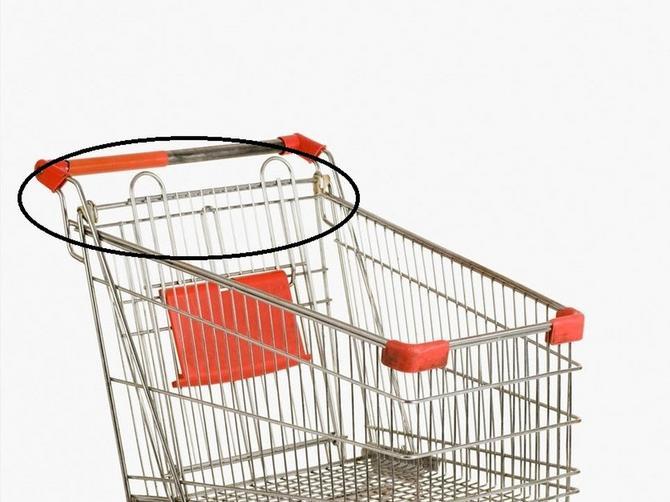 Da li ste ikada primetili OVU STVAR na kolicima? Retko ko zna čemu ZAISTA služi, a MNOGO će vam olakšati kupovinu