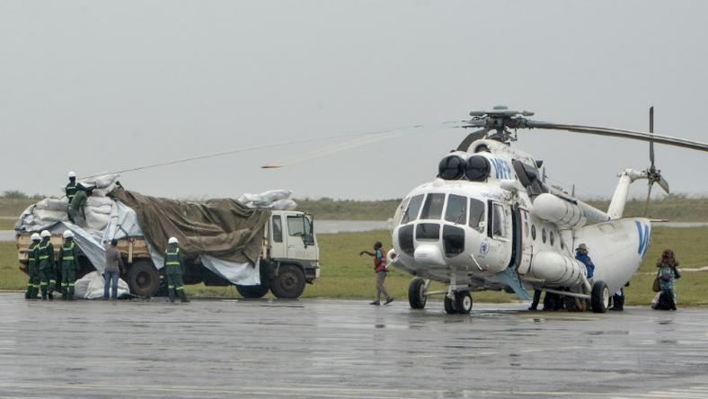 World Food Programme (WFP) helicopters flew in much-needed food supplies to Ibo Island and Quissanga in northern Mozambique