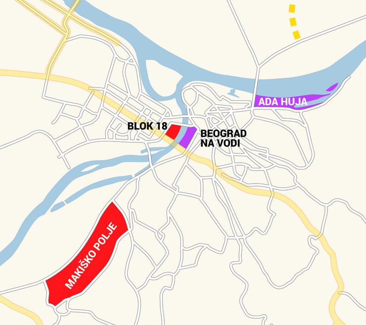 blic mapa beograd Beograd dobija ČETIRI NOVA NASELJA, a dva od njih će povezivati  blic mapa beograd