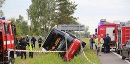 Polski Bus w rowie na krajowej ósemce. Są ranni