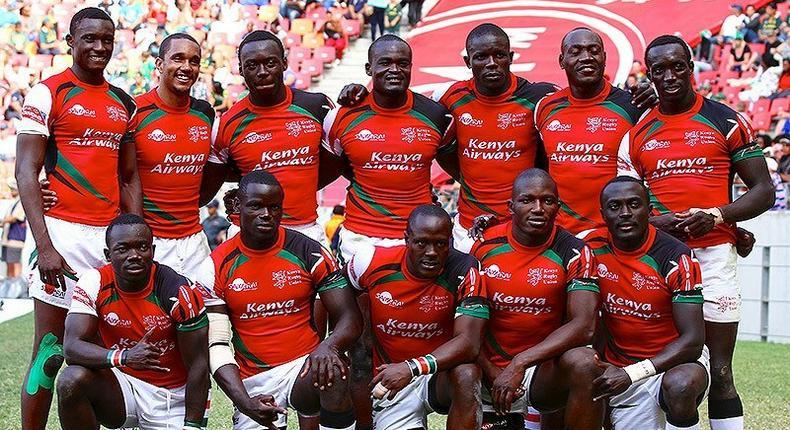 The Kenya Rugby sevens team