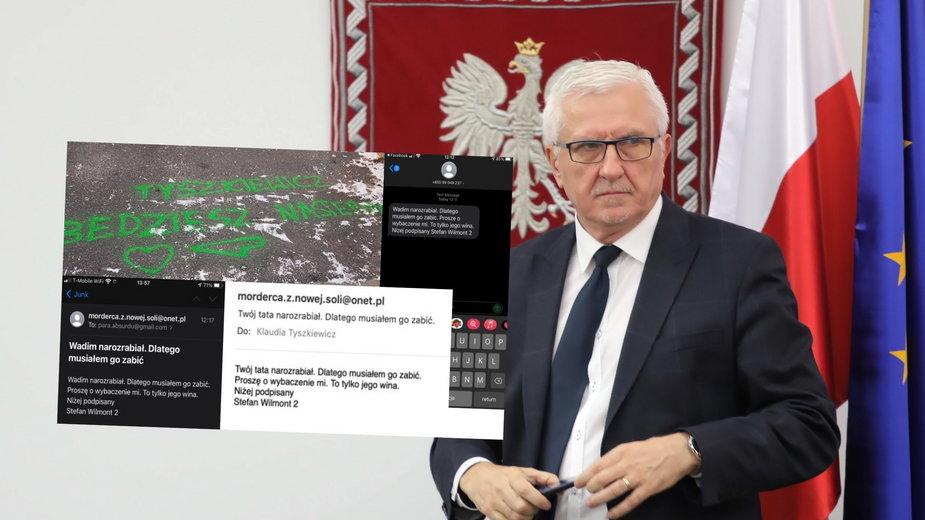 Wadim Tyszkiewicz i jego rodzina otrzymali anonimowe groźby