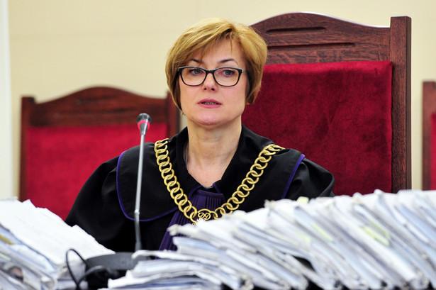 Sędzia Małgorzata Puczko na sali sądowej, podczas zakończenia procesu przed Sądem Okręgowym w Szczecinie, PAP/Marcin Bielecki