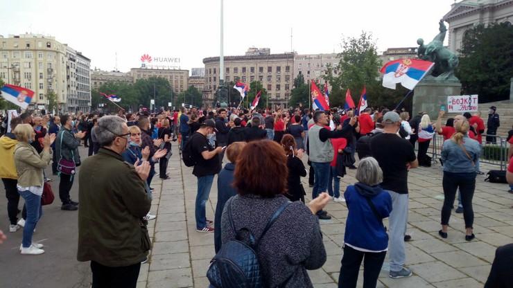 Protest podrške Bošku Obradoviću