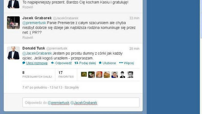 Oficjalny profil premiera Donald Tuska