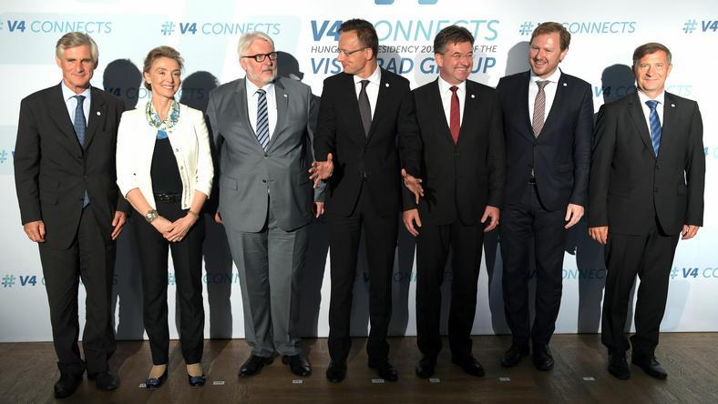 Szefowie MSZ państw Grupy Wyszehradzkiej, Austrii, Słowenii i Chorwacji