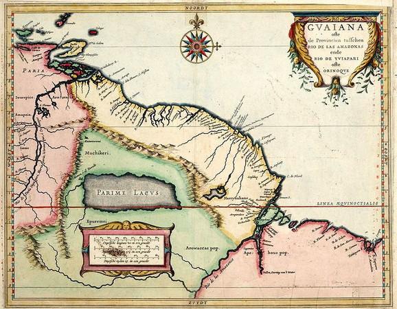 Na zapadnoj obali jezera smešten je grad Manoa, odnosno El Dorado (kliknuti + za uvećanje)
