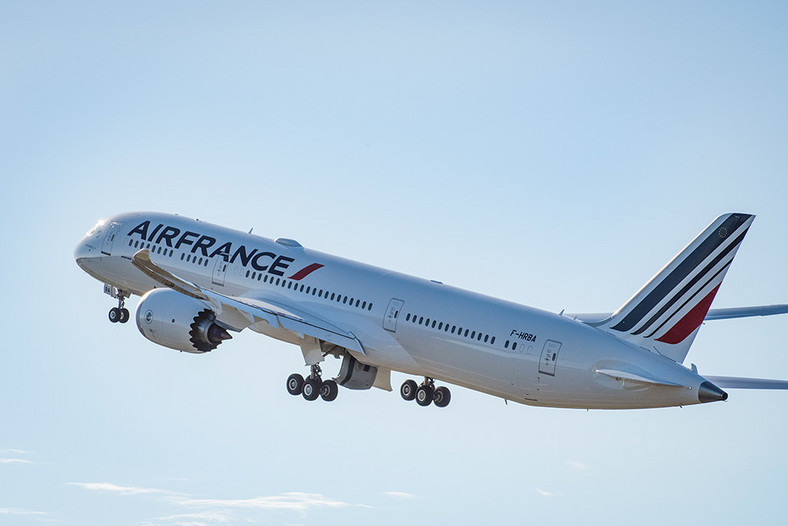 Dreamliner Air France w locie