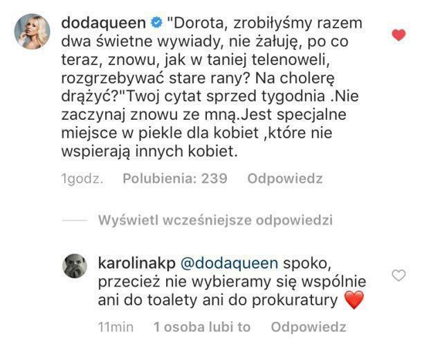 posty Dody i Karoliny Korwin Piotrowskiej