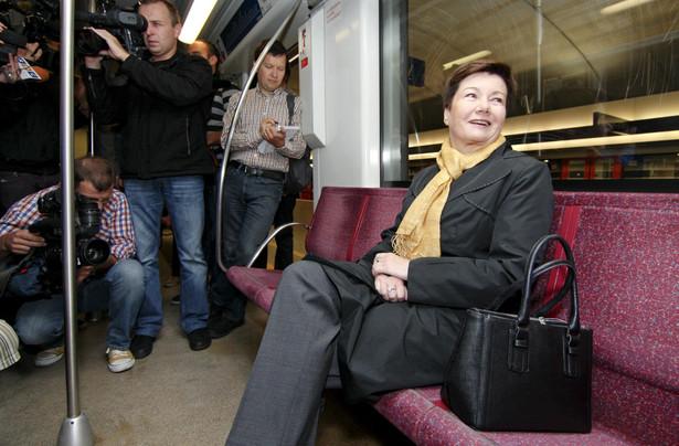 Prezydent Warszawy Hanna Gronkiewicz-Waltz w metrze