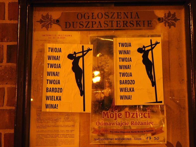 Plakaty Ogólnopolskiego Strajku Kobiet