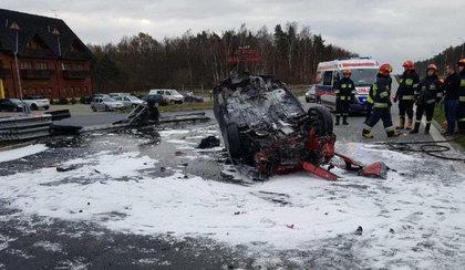 Kobieta spłonęła w samochodzie