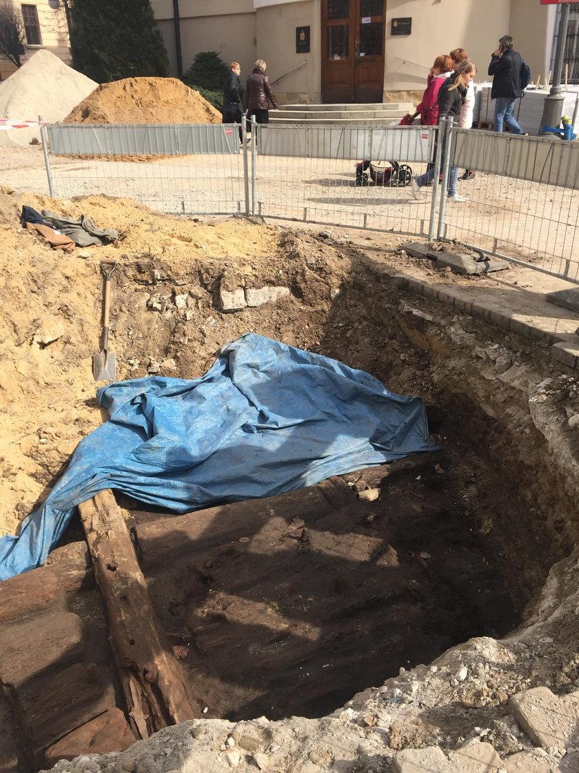 Wykopaliska na deptaku w Rzeszowie