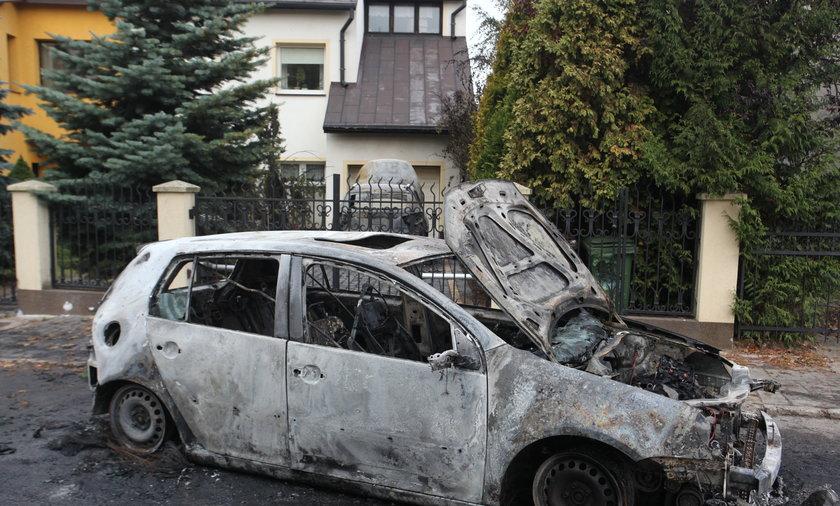 Spalone samochody w Gdańsku
